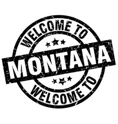 Welcome to montana black stamp vector