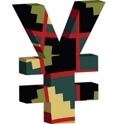 3d yen symbol vector image vector image