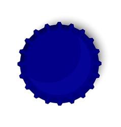 Blue bottle cap vector image