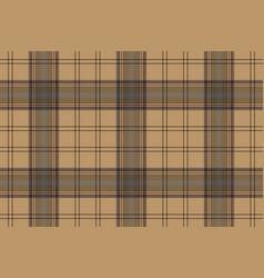 brown plaid check tartan seamless pattern vector image