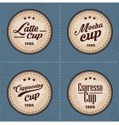 Coffee badge logo in vintage style vector image vector image