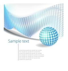 Dotted Abstract template background vector image vector image