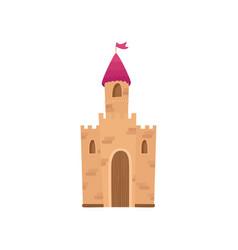 fairy medieval castle cartoon vector image vector image