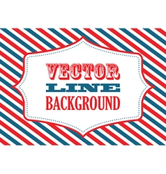 striped background red vector image vector image