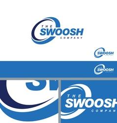 Swoosh Abstract Symbol Branding Element Template vector image vector image