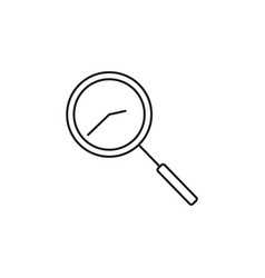 time search icon vector image vector image