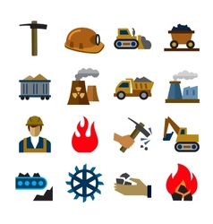 coal mining industry icons vector image vector image