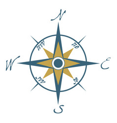 compass icon compass logo on white background vector image