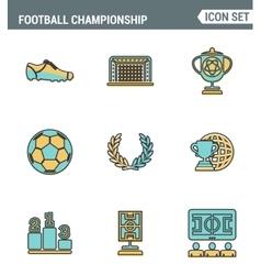 Icons line set premium quality of football vector image
