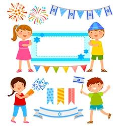 Israeli cartoons vector image vector image
