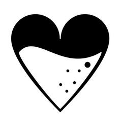medical heart blood design pictogram vector image