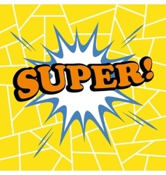 Super comic cartoon vector image vector image