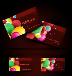 artistic business card vector image vector image