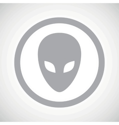 Grey alien sign icon vector image