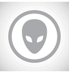 Grey alien sign icon vector image vector image