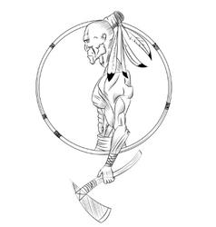 Native American Head vector image