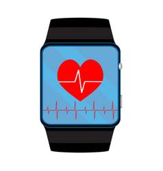 pulsometer smart watch vector image