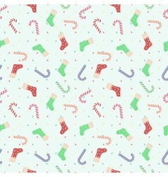 The pattern of Christmas candy and socks vector image