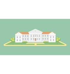 University or college building Campus graduation vector image vector image