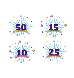 Anniversary backgrounds vector image vector image