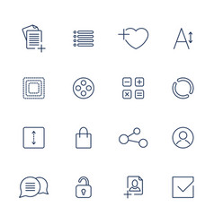 apps icon set over linen vector image vector image