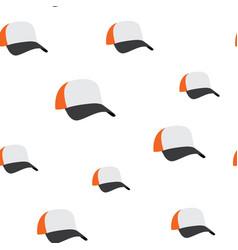 baseball cap seamless pattern vector image vector image