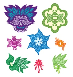 color indian elements for design vector image