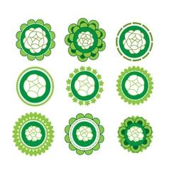 Jasmine banner in a flower green vector image