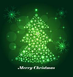 shiny christmas tree celebratory background vector image