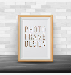 3d photo frame rectangular frame template vector image