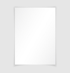 A4 paper with shadow design template vector