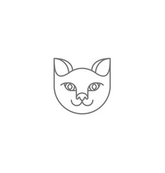 abstract cat icon vector image