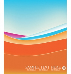 abstract landscape vector image