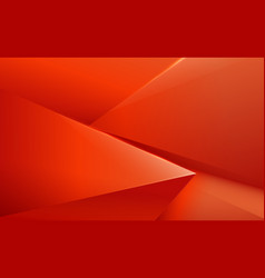abstract red and orange polygonal pattern luxury vector image
