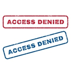 Access Denied Rubber Stamps vector image