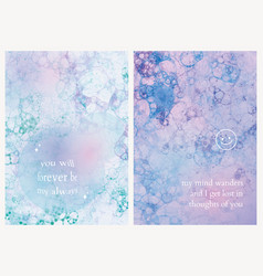 Aesthetic bubble art template with romantic quote vector