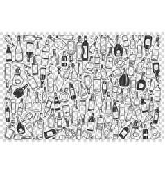 alcohol doodle set vector image
