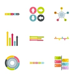 Analytics icons set flat style vector image