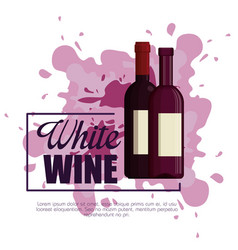 best wine bottle label vector image