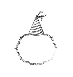 birthday hat decoration vector image
