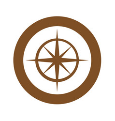 brown symbol compass star icon vector image