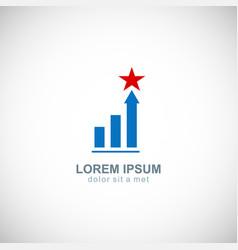 Business finance chart star company logo vector