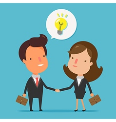 Business people handshake vector image