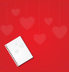 card for valentine day saint valentina vector image