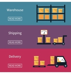Cargo and delivery shipping banner vector