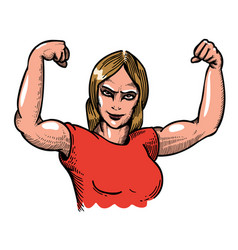 cartoon image of gym woman vector image