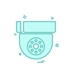 cctv camera icon design vector image