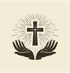 christianity symbol of jesus christ cross vector image