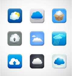 cloud app icons vector image