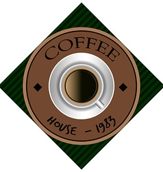 Coffee label vector image